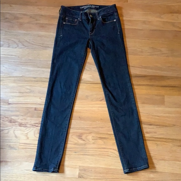 American Eagle Outfitters Denim - AE dark super stretch skinny jeans, sz 0
